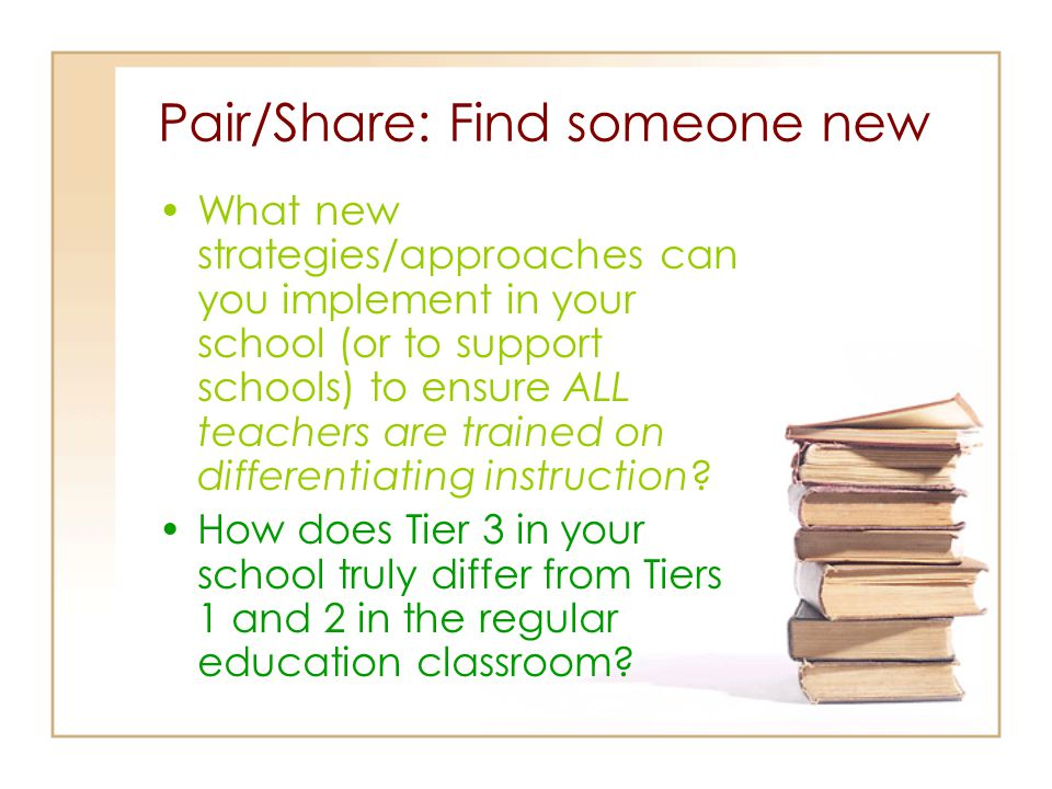 Pair/Share: Find someone new