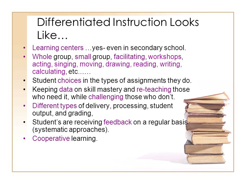 Differentiated Instruction Looks Like…