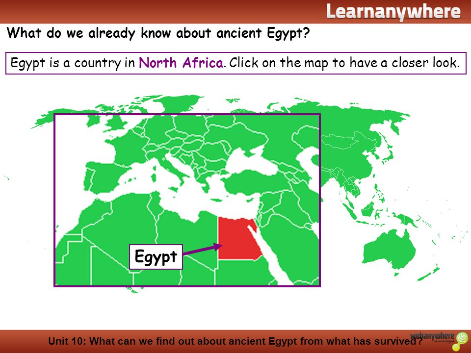 Egypt What do we already know about ancient Egypt
