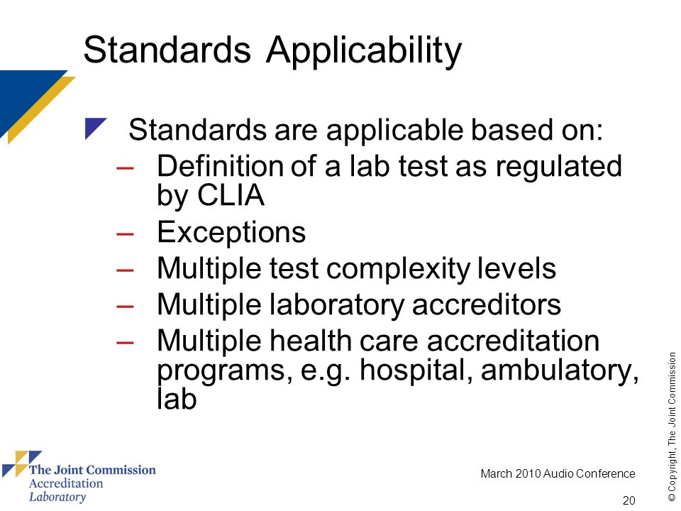 Standards Applicability