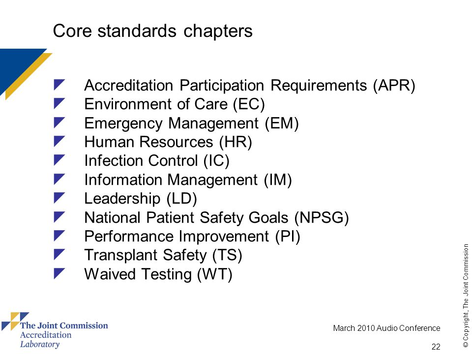Core standards chapters