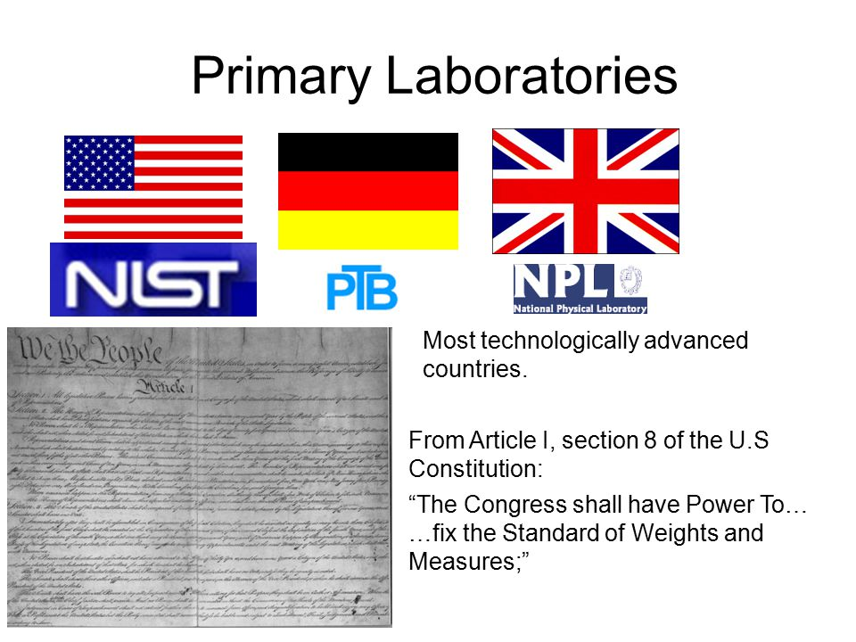 Primary Laboratories Most technologically advanced countries.