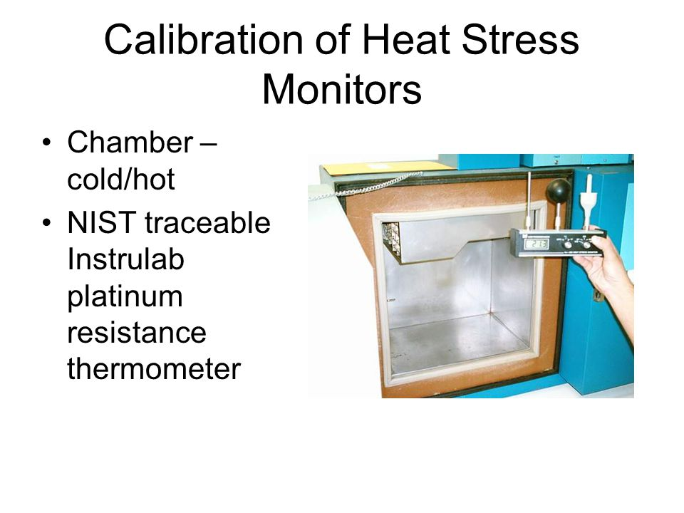 Calibration of Heat Stress Monitors