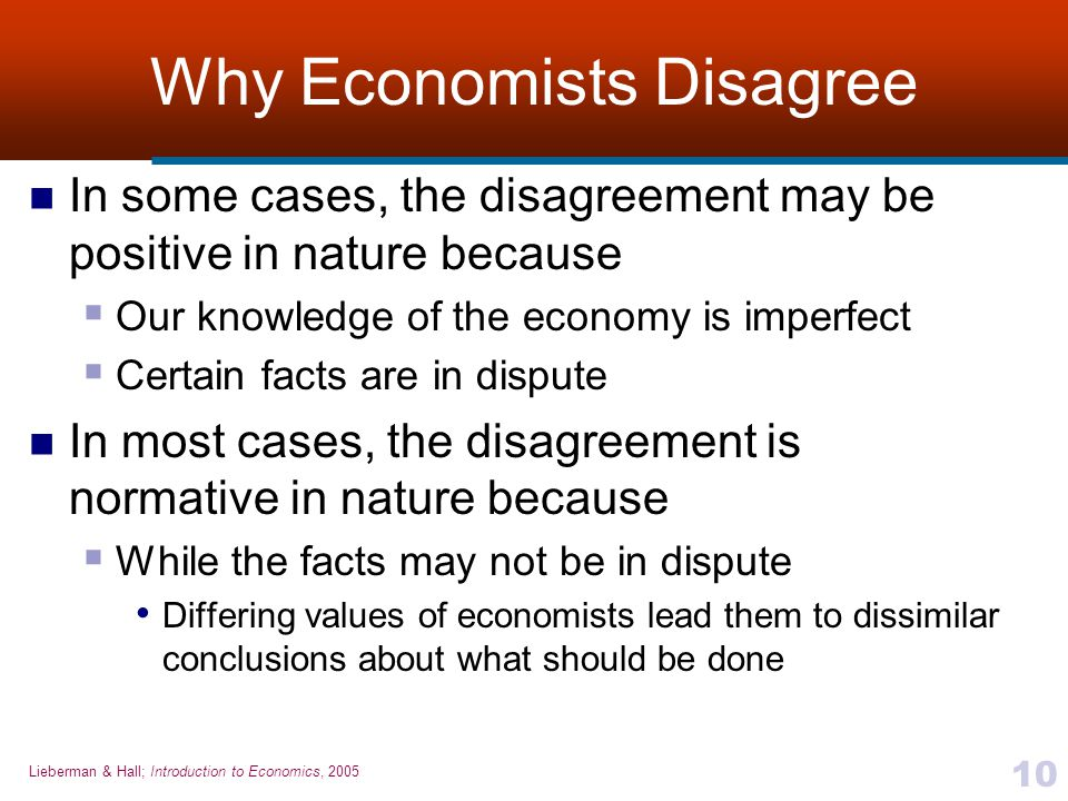 Why Economists Disagree