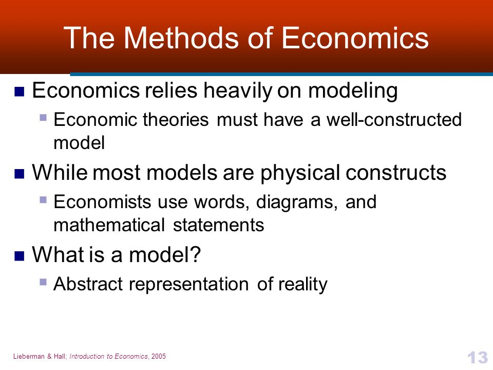 The Methods of Economics