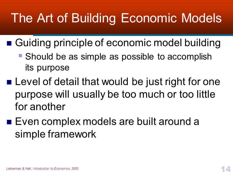 The Art of Building Economic Models