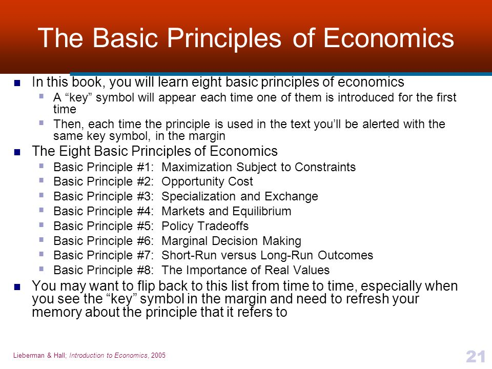 The Basic Principles of Economics