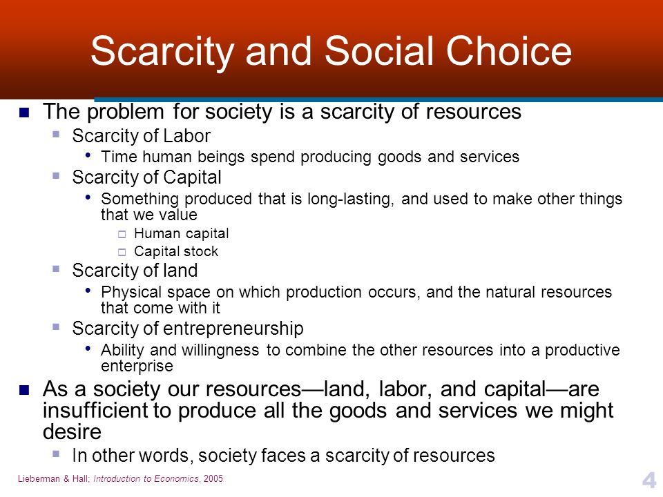 Scarcity and Social Choice