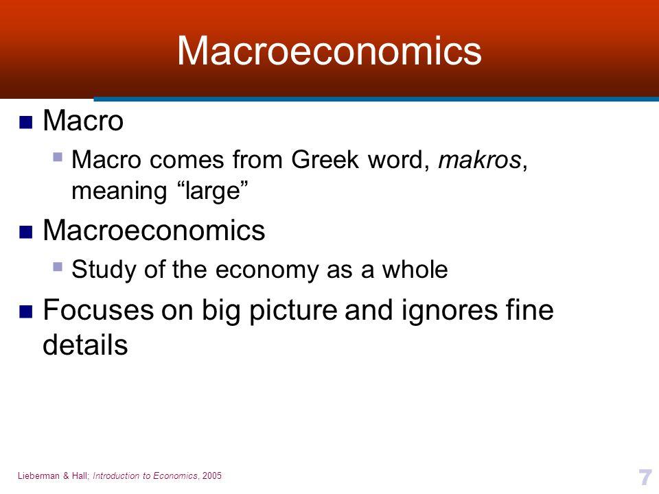 Macroeconomics Macro Macroeconomics