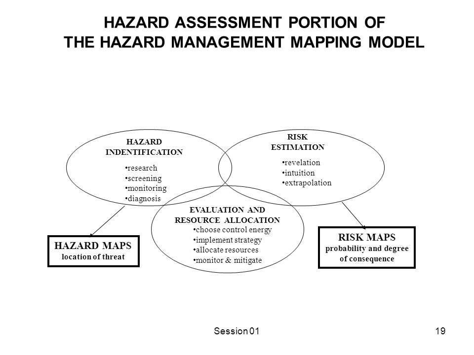 EMERGENCY MANAGEMENT PORTION OF THE HAZARD MANAGEMENT MAPPING MODEL
