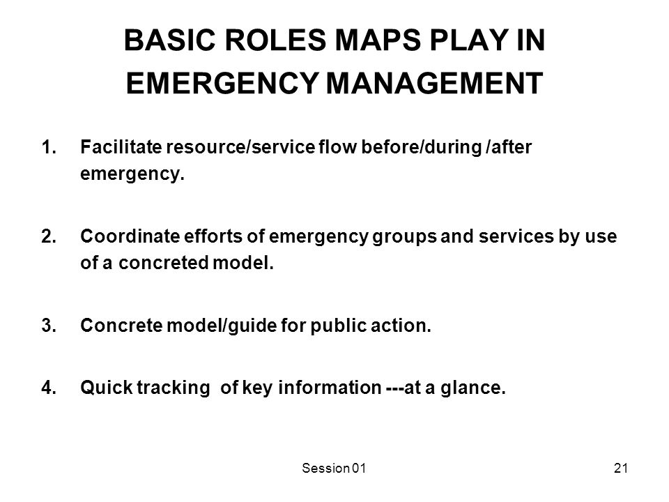 PITFALLS IN PROVIDING EMERGENCY MAPS TO THE PUBLIC