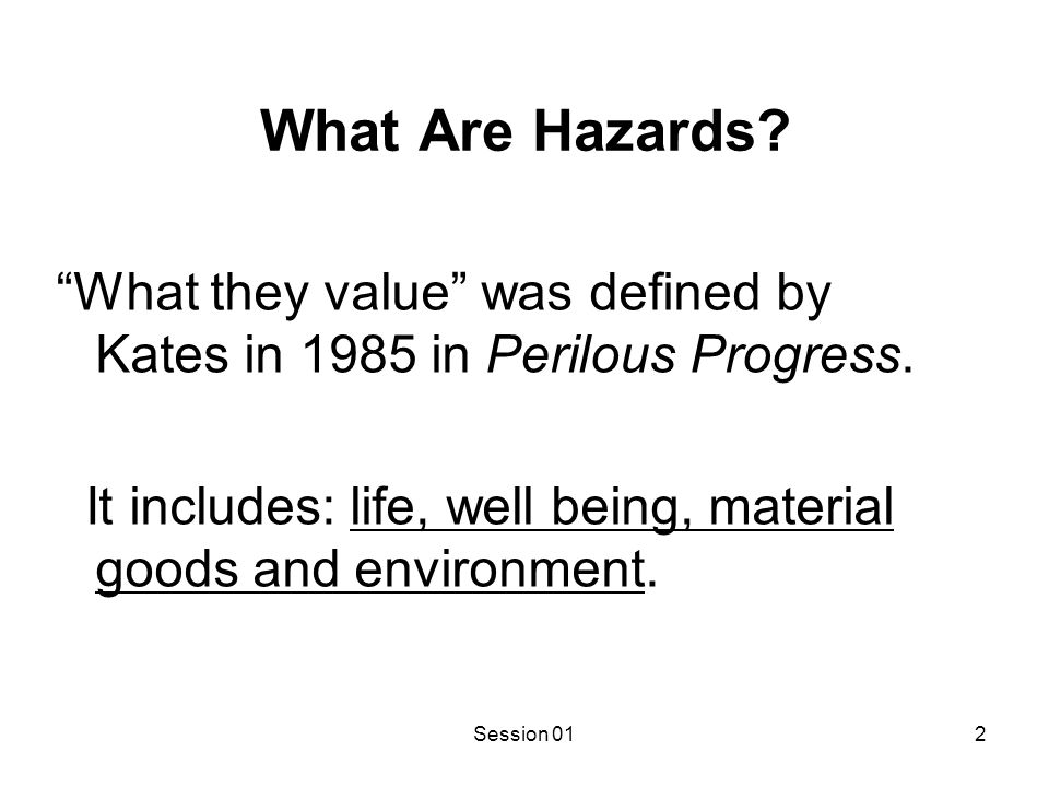 In Multihazard Identification and Assessment FEMA defines hazards as: