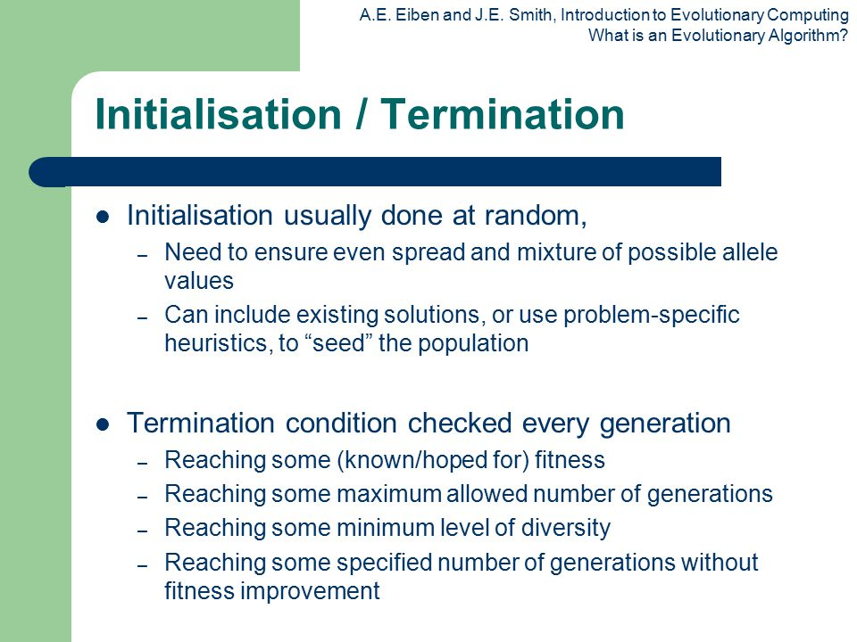 Initialisation / Termination
