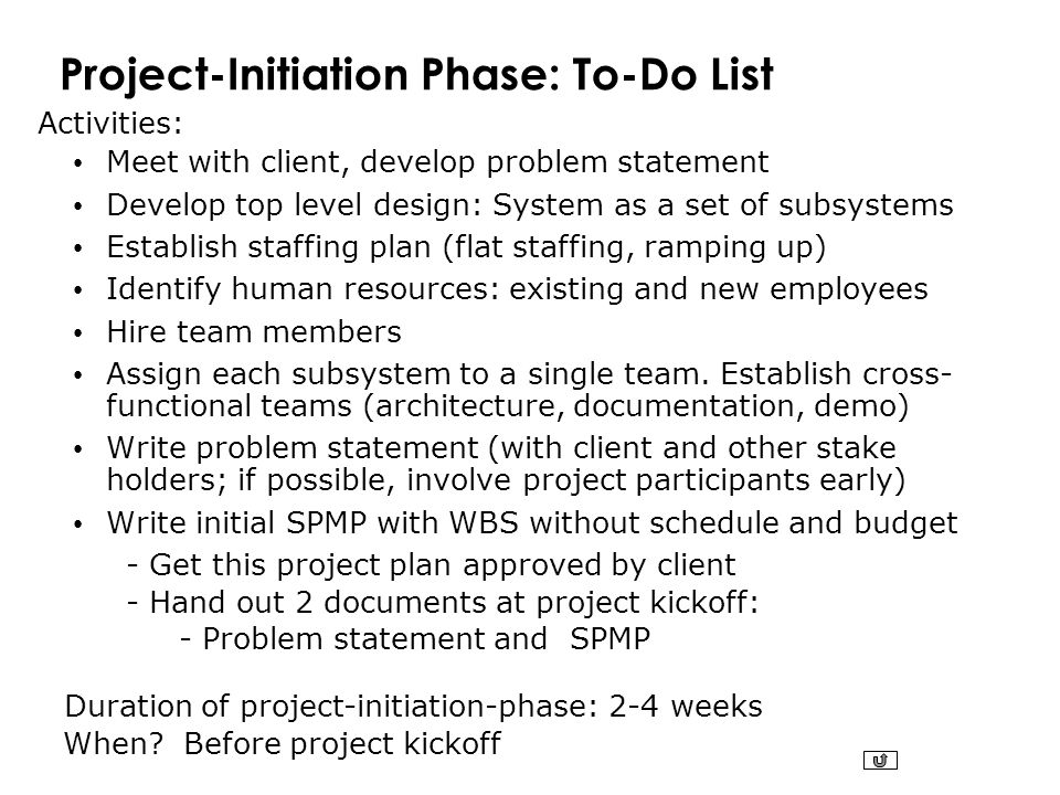 Project-Initiation Phase: To-Do List