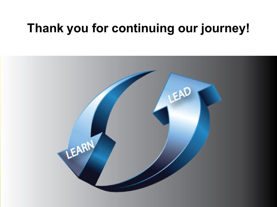 Thank you for continuing our journey!