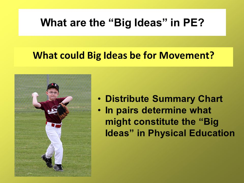 What are the Big Ideas in PE