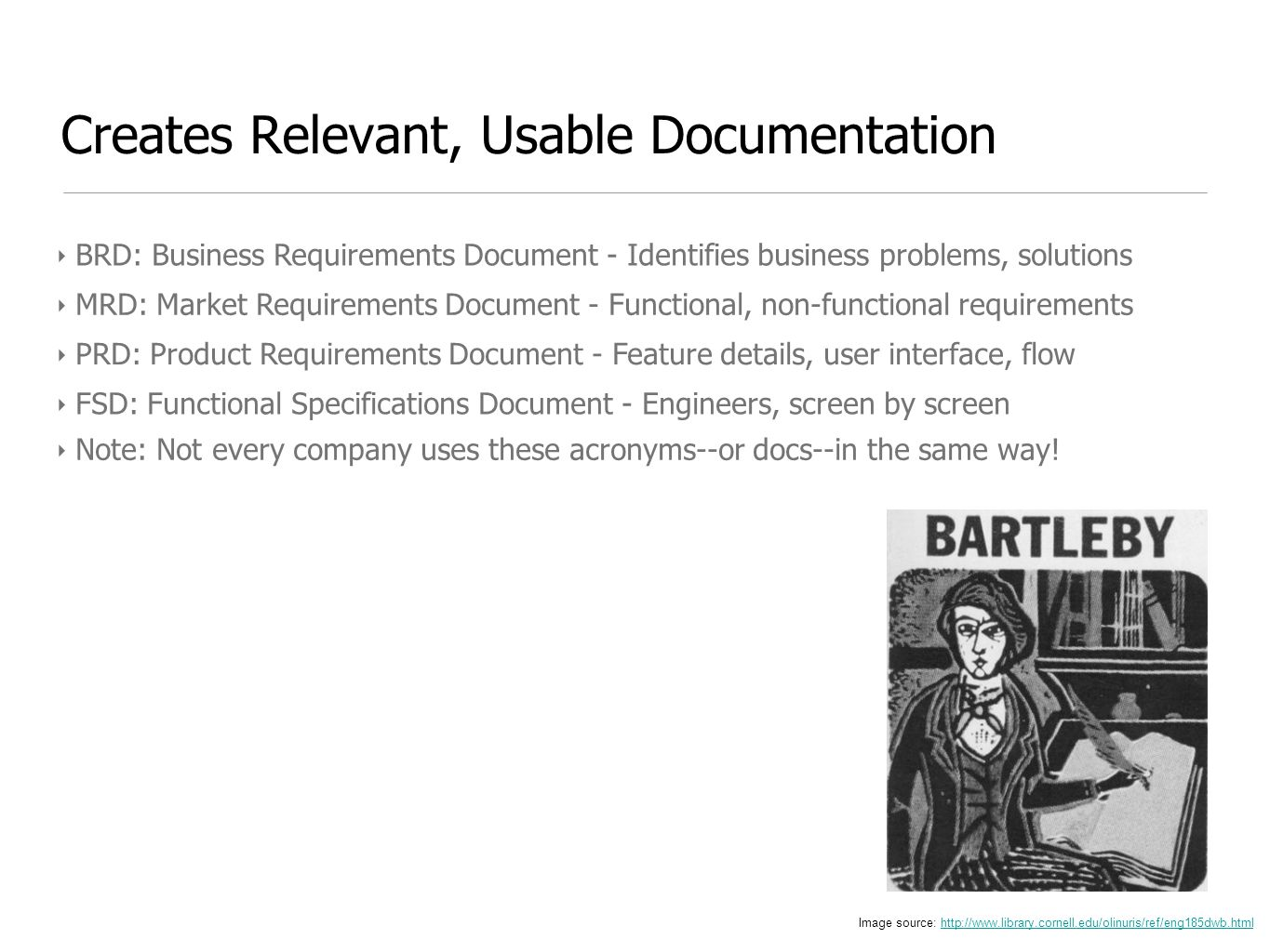 Creates Relevant, Usable Documentation