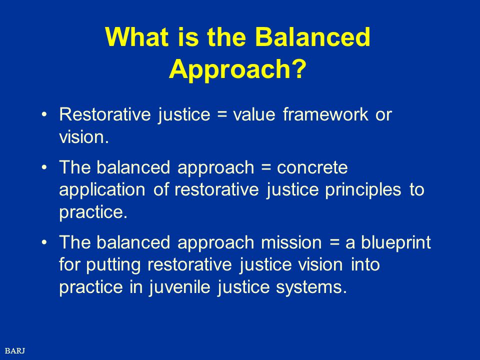 What is the Balanced Approach