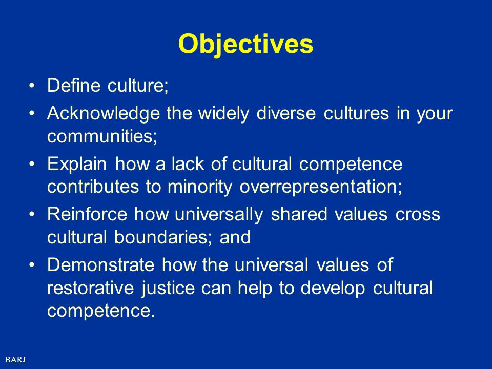 Objectives Define culture;