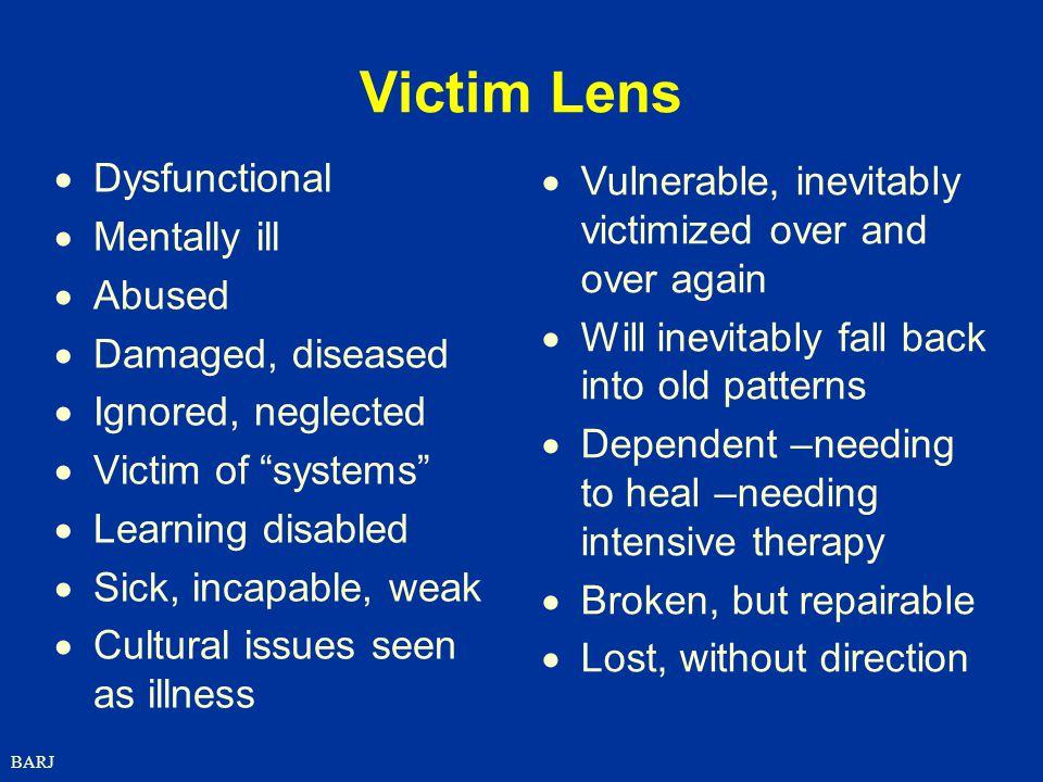 Victim Lens Dysfunctional