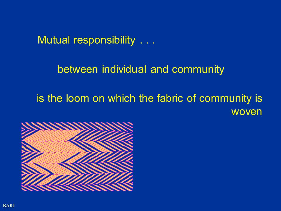 between individual and community