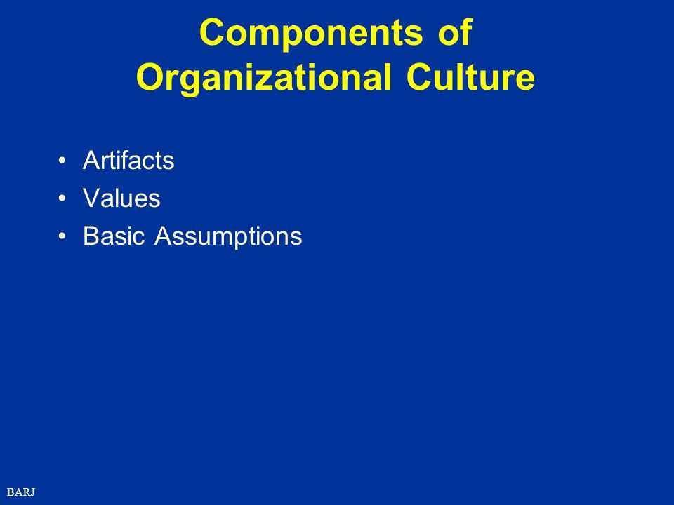 Components of Organizational Culture