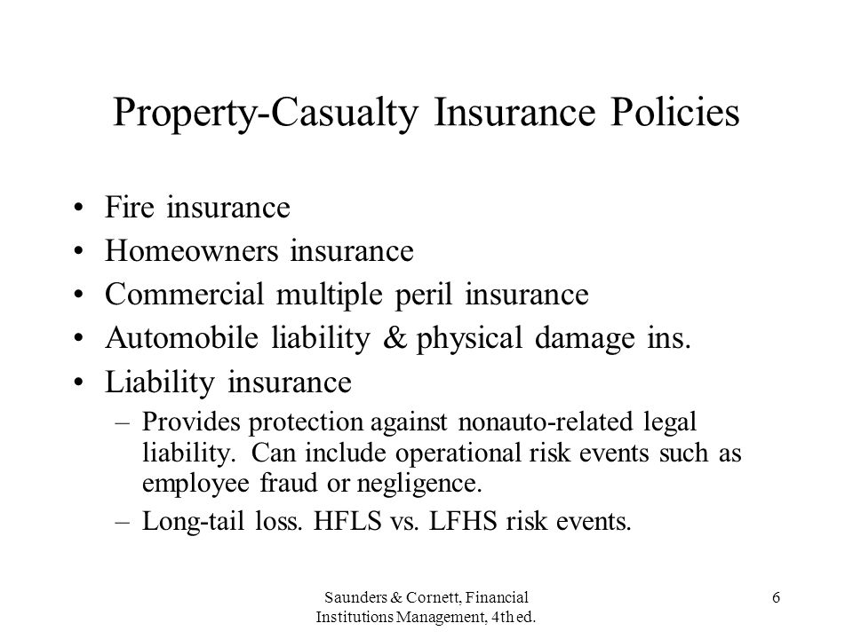 Property-Casualty Insurance Policies