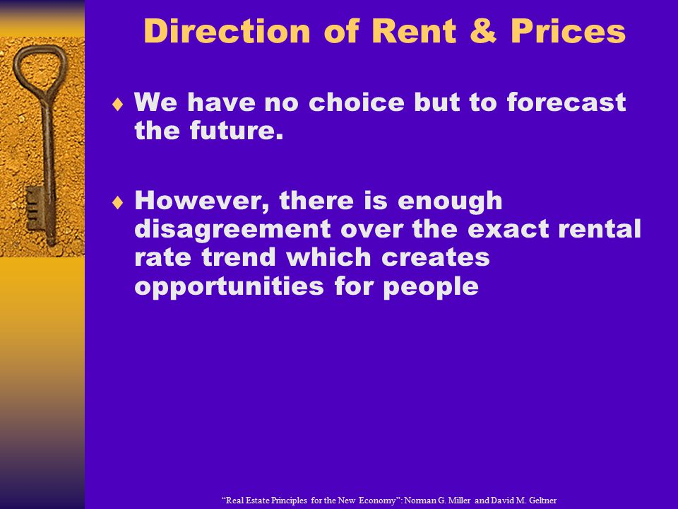 Direction of Rent & Prices