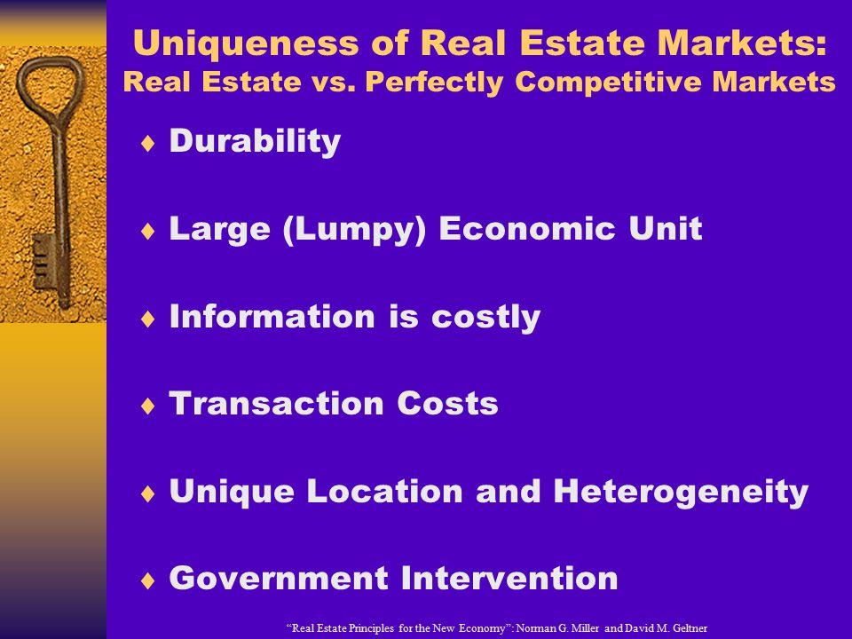 Uniqueness of Real Estate Markets: Real Estate vs