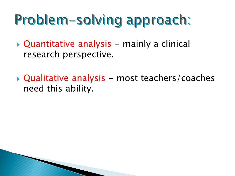 Problem-solving approach: