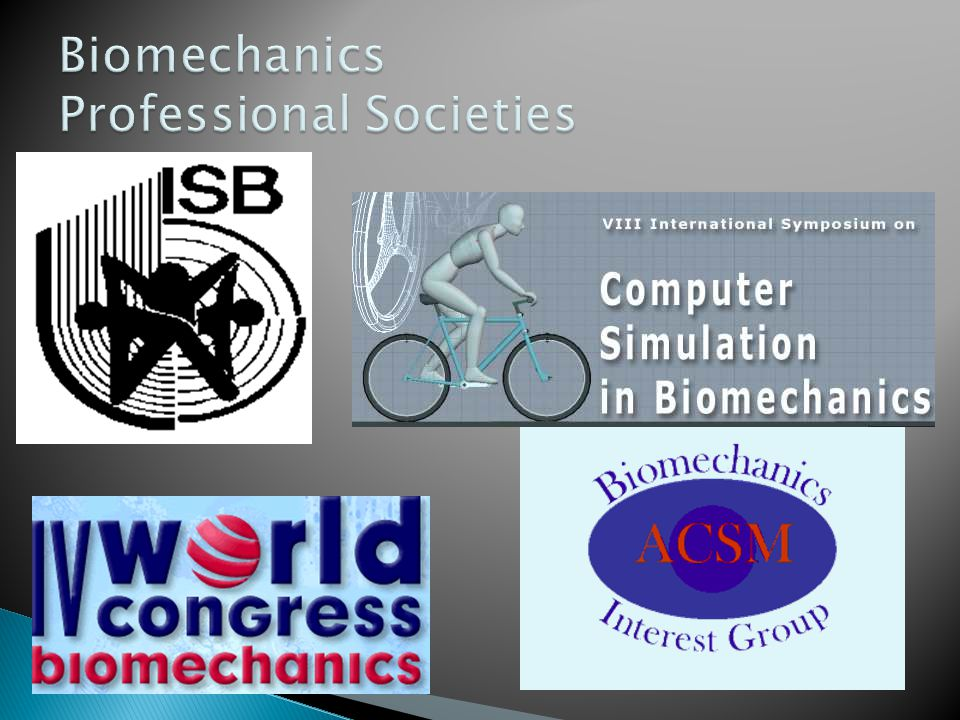 Biomechanics Professional Societies