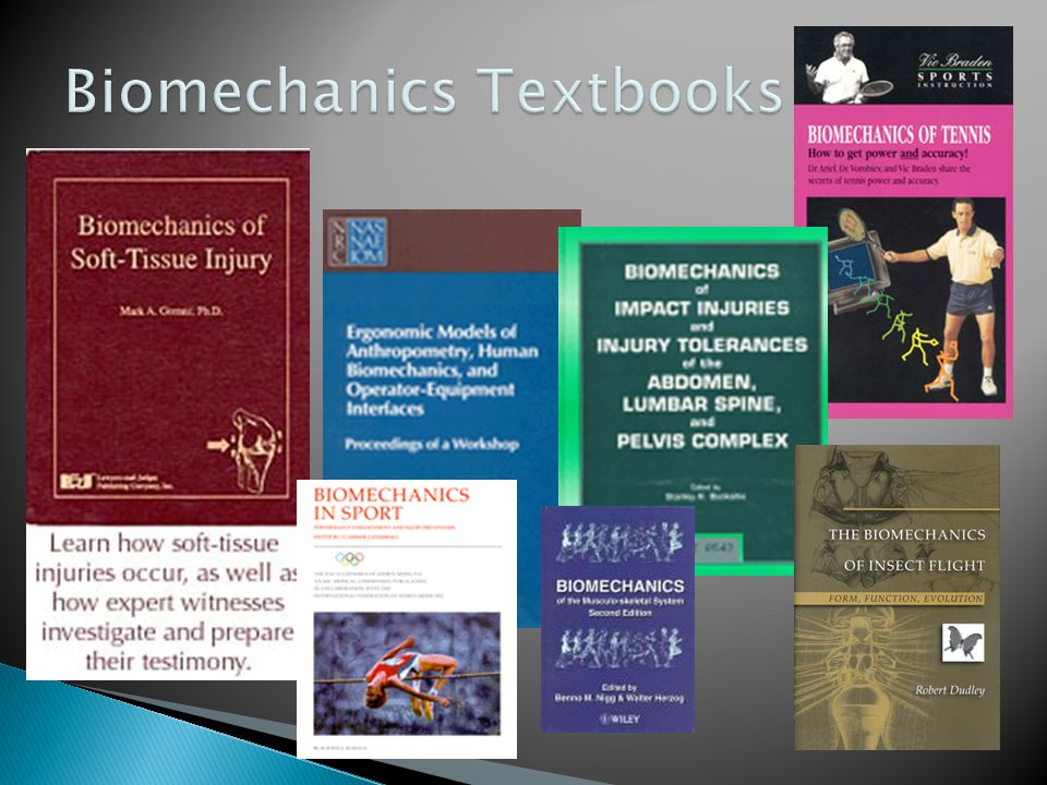 Biomechanics Textbooks