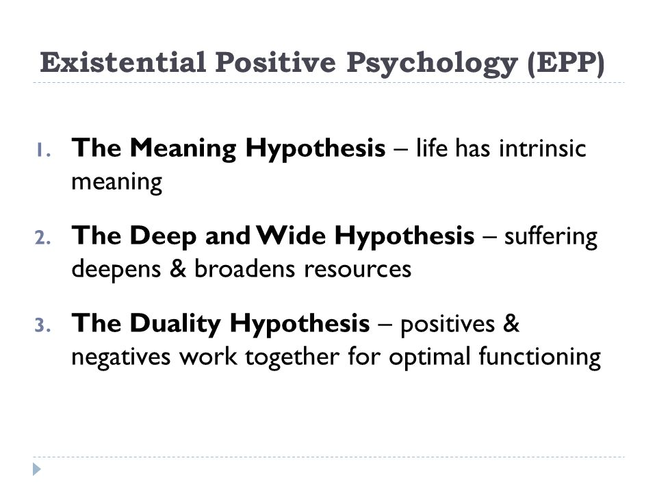 Existential Positive Psychology (EPP)