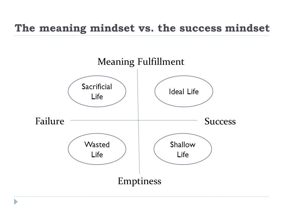 The meaning mindset vs. the success mindset