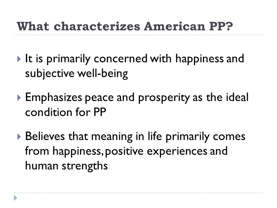 What characterizes American PP