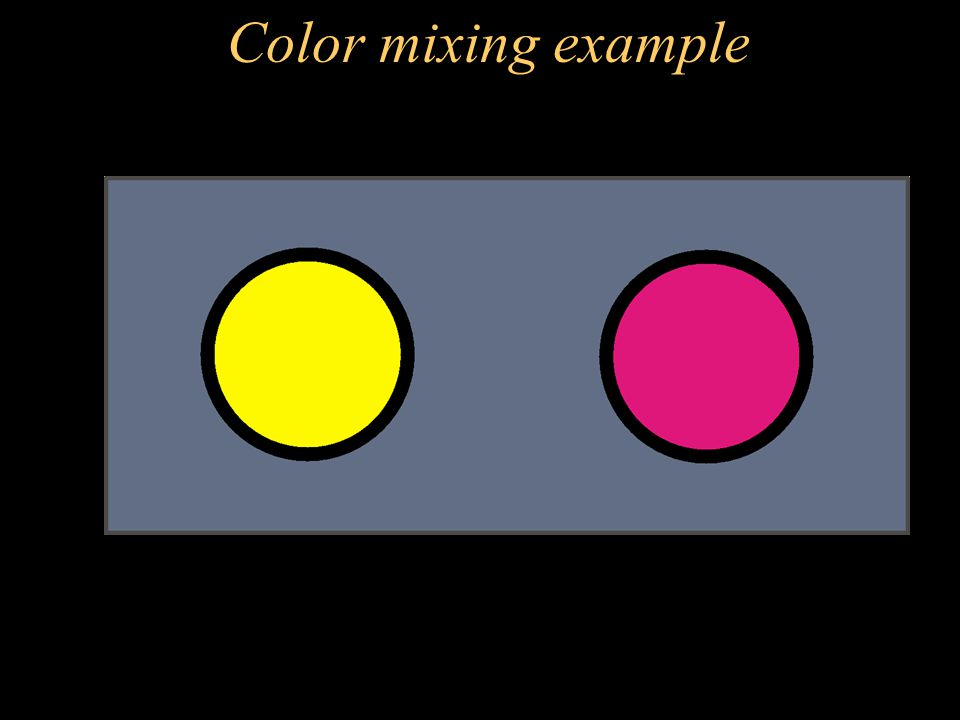 Color mixing example