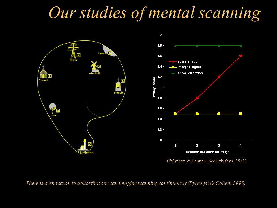 Our studies of mental scanning