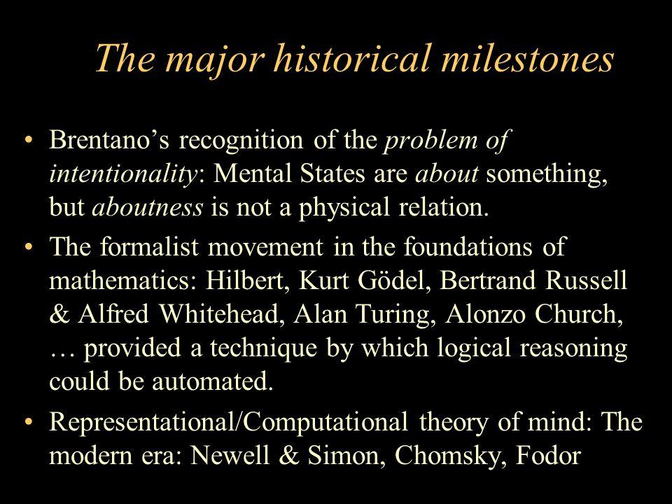The major historical milestones
