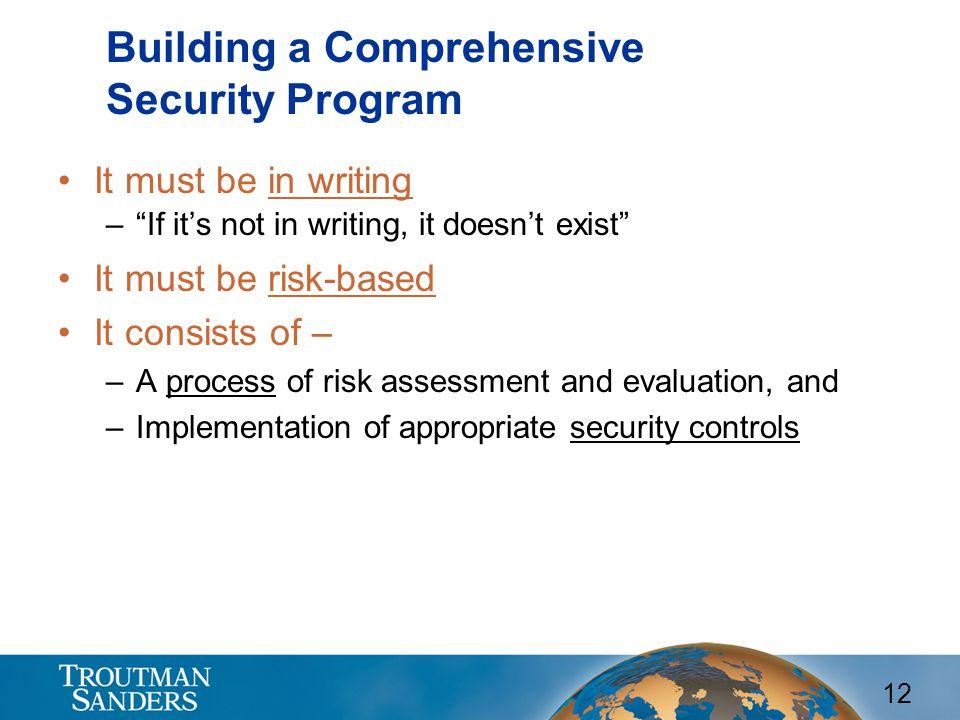 Building a Comprehensive Security Program
