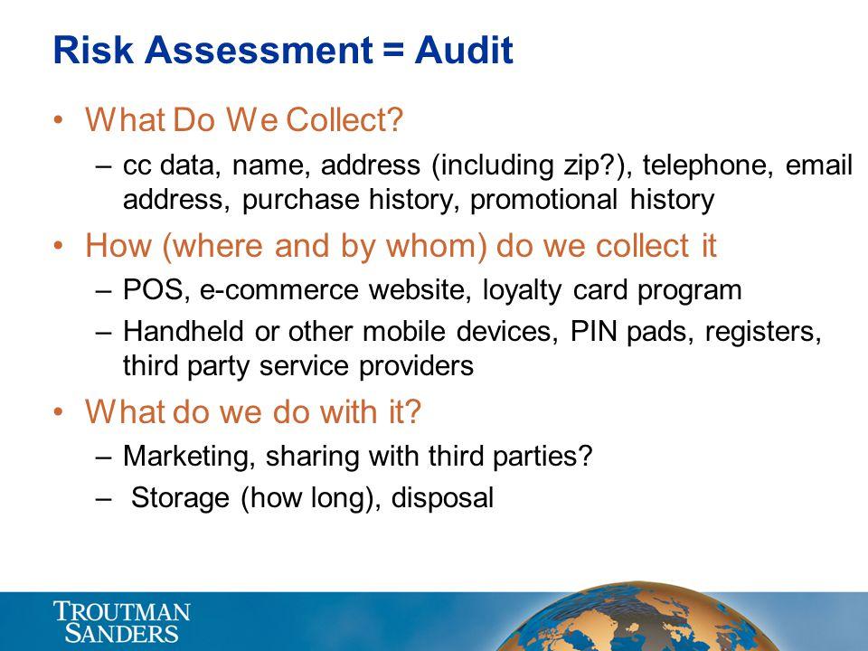 Risk Assessment = Audit