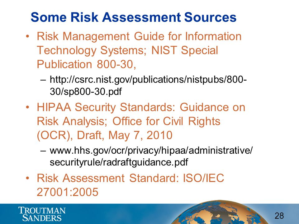 Some Risk Assessment Sources