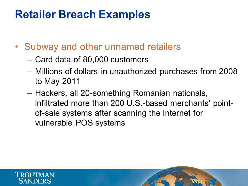 Retailer Breach Examples