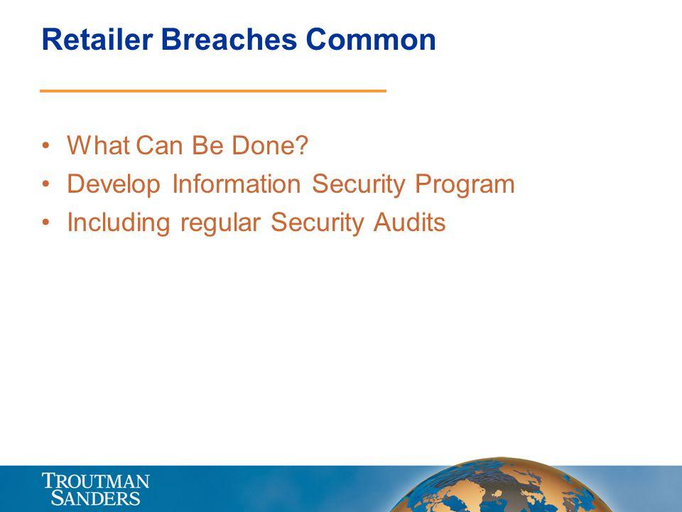 Retailer Breaches Common
