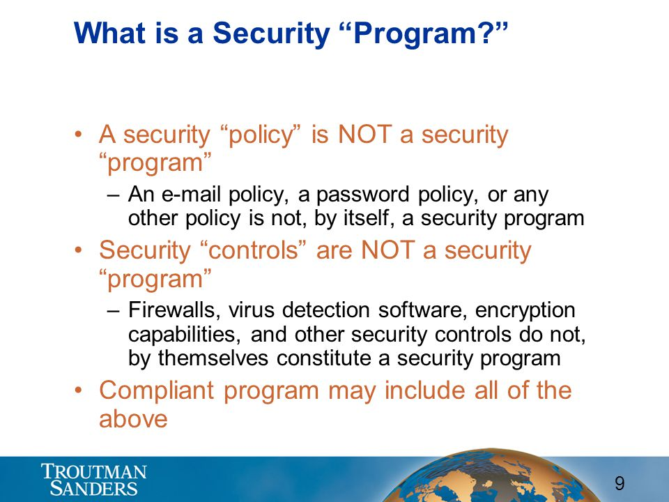 What is a Security Program