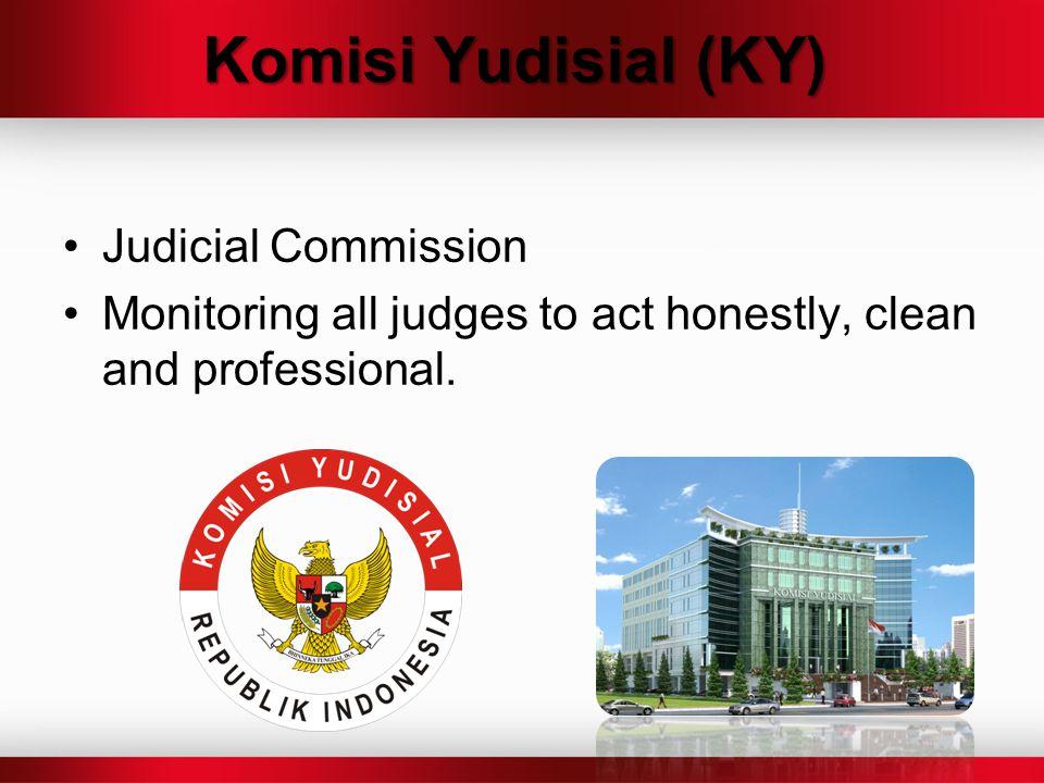 Komisi Yudisial (KY) Judicial Commission