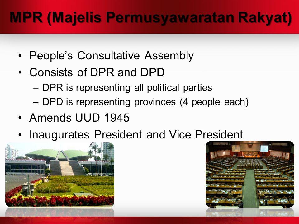 MPR (Majelis Permusyawaratan Rakyat)