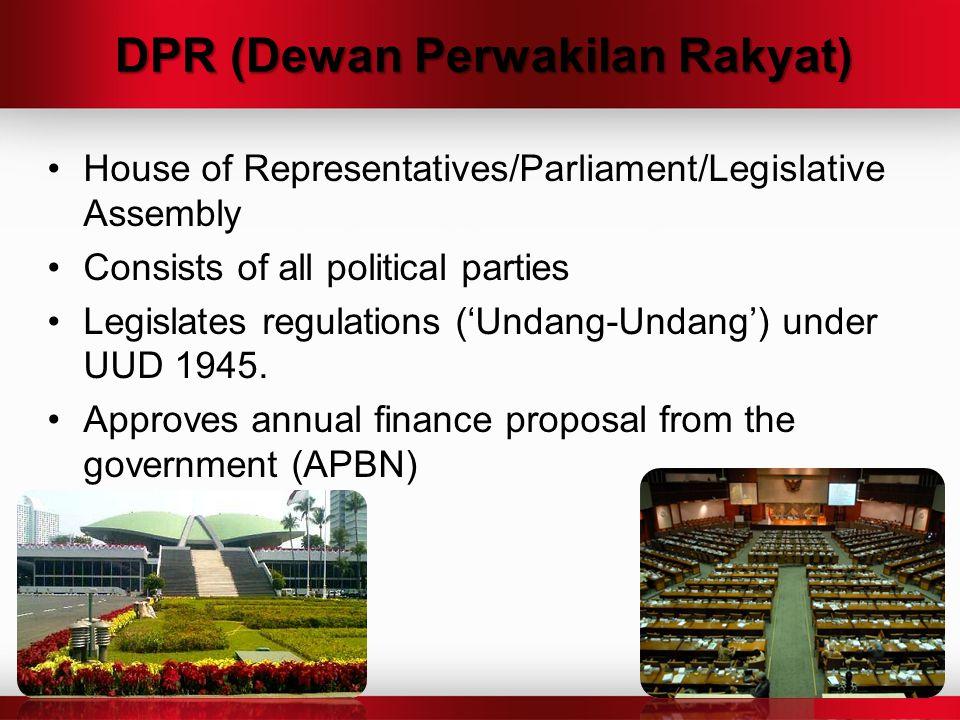 DPR (Dewan Perwakilan Rakyat)