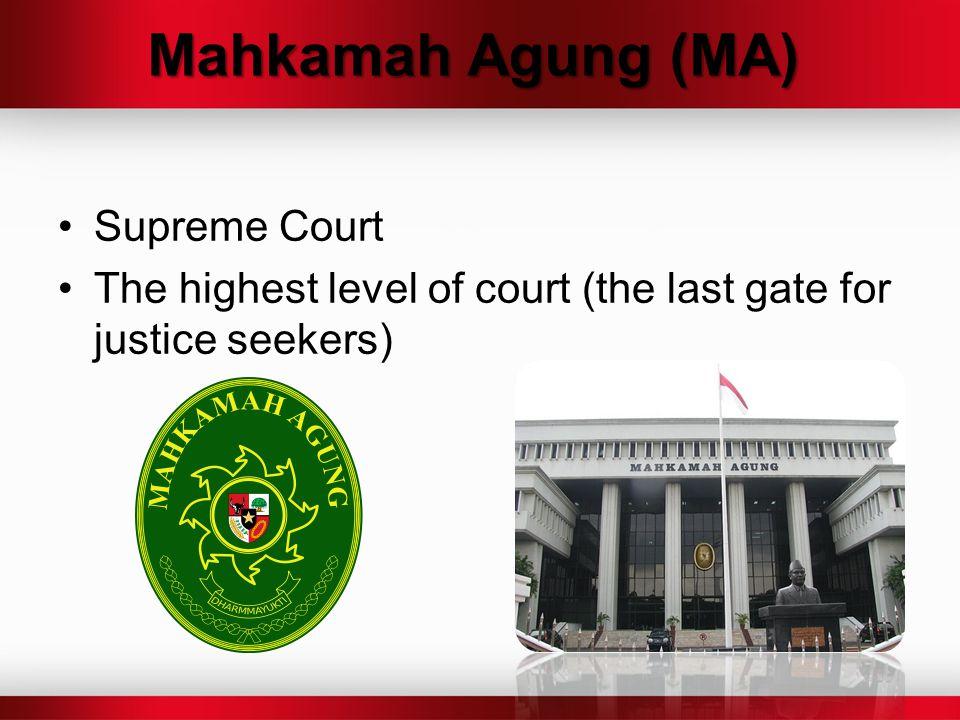 Mahkamah Agung (MA) Supreme Court