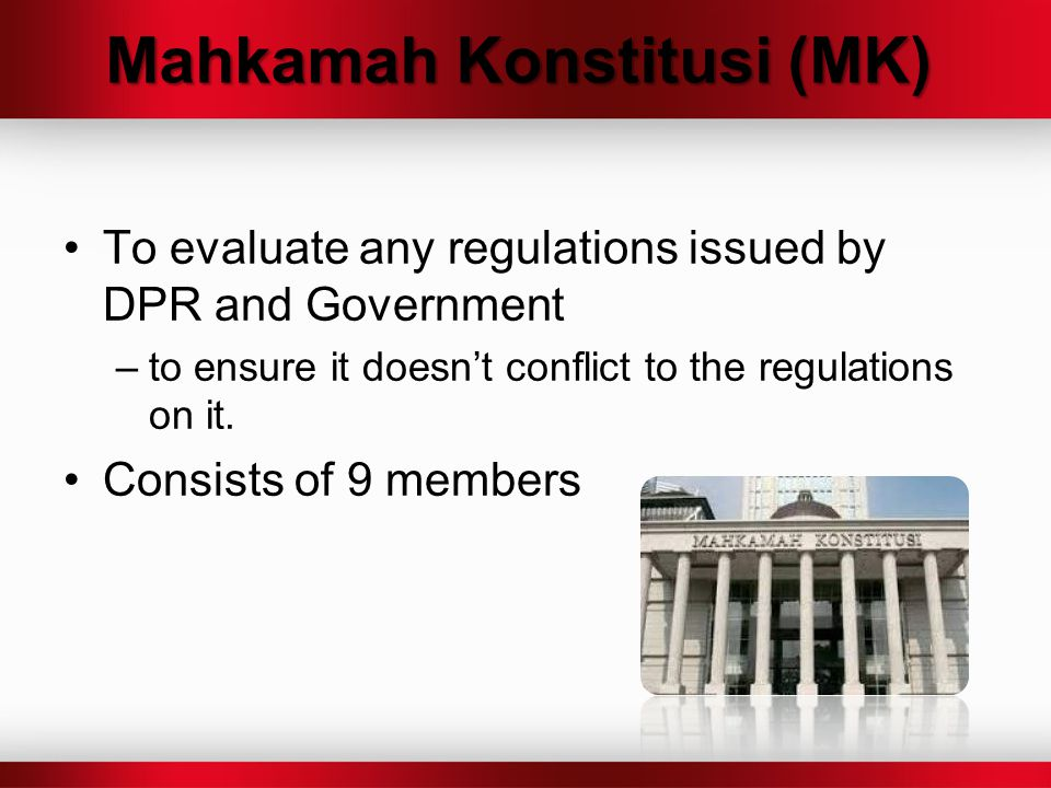 Mahkamah Konstitusi (MK)
