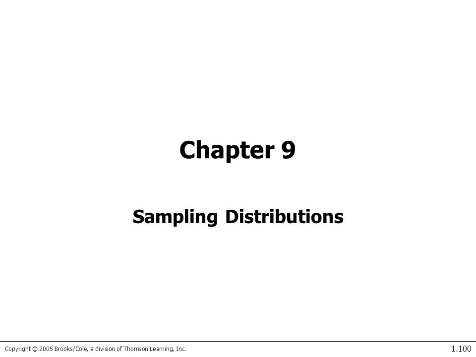 Keller: Stats for Mgmt&Econ, 7th Ed. Sampling Distributions